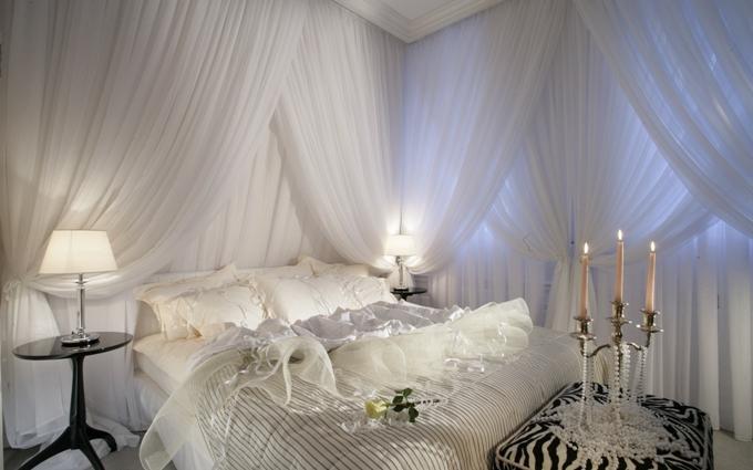 Cпальня в романтическом стиле. Как обустроить спальню? Фото