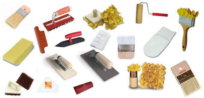 Материалы и инструменты для нанесения декоративной штукатурки