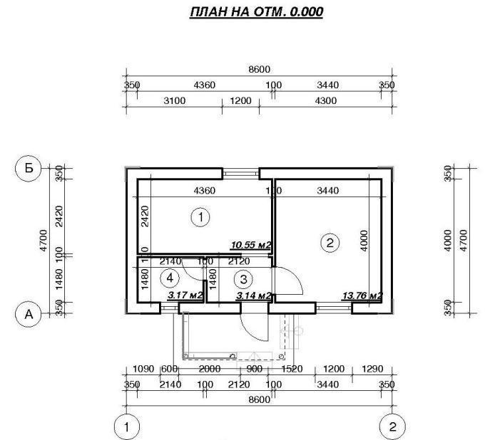 План дачного домика 40 м2