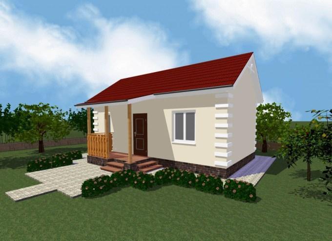 Проект дачного домика 40 м2