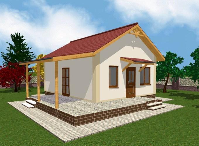 Проект дачного домика 47 м2