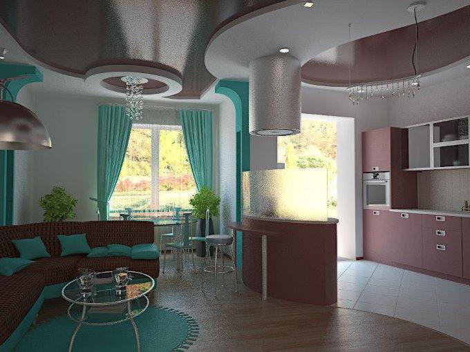Дизайн кухни-студии. Фото