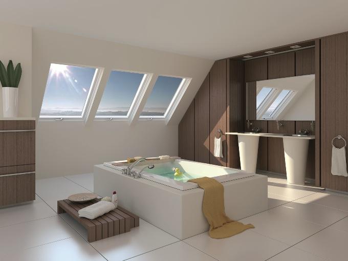 Туалет и ванная на мансарде фото