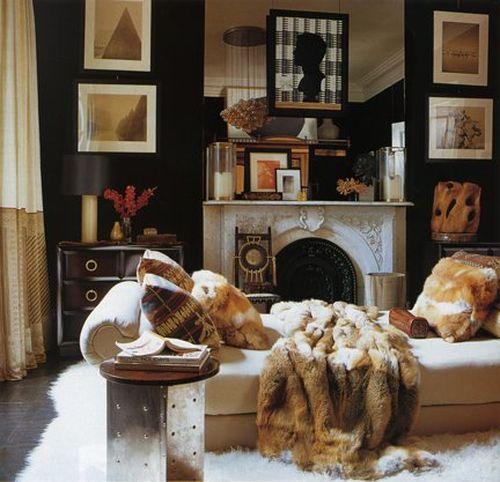 Меховые одеяло и подушки