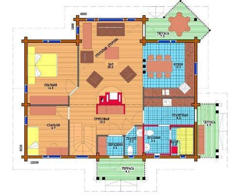 Подсчет площадей дома
