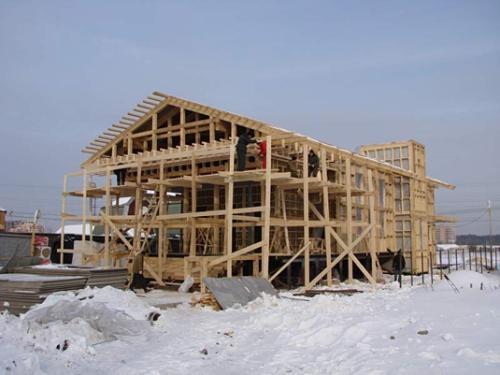 Строительство стен зимой
