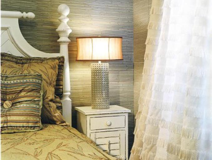 Бамбуковые обои в спальне фото