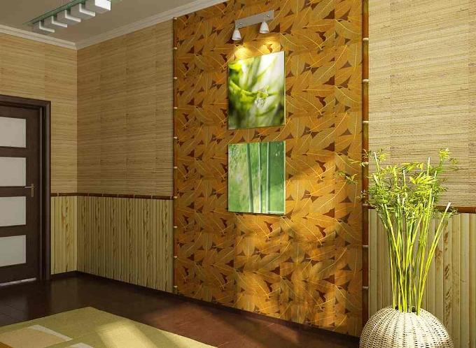 Как клеить бамбуковые обои?