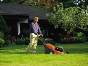 Чтобы быстро косить газон