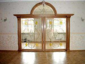 Двери рамочные с остеклением
