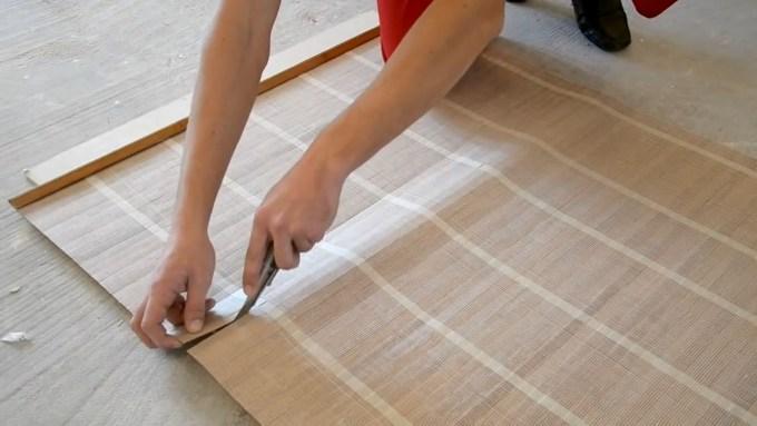 Раскрой бамбуковых обоев