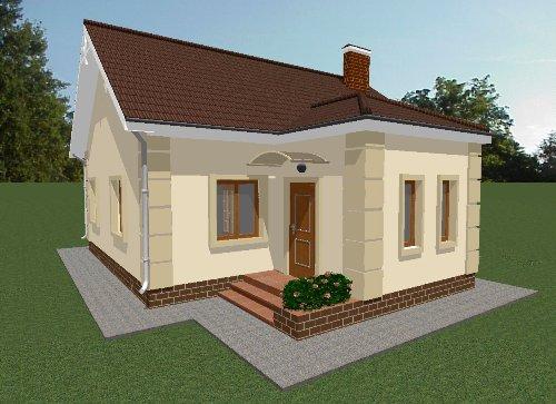 Проект дома 69 м2. Вид 1