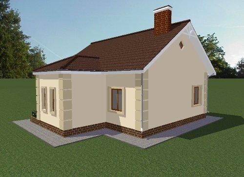 Проект дома 69 м2. Вид 2