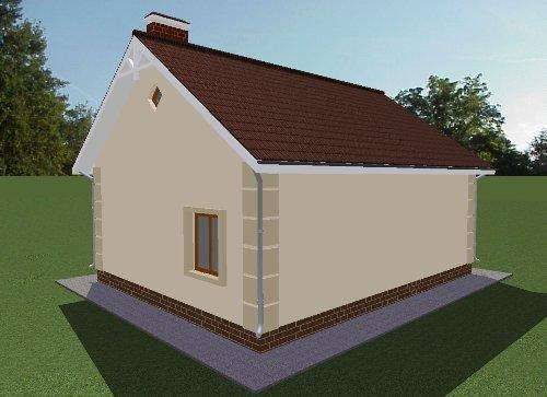 Проект дома 69 м2. Вид 3