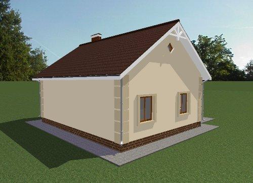 Проект дома 69 м2. Вид 4
