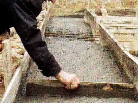 Равнение бетона