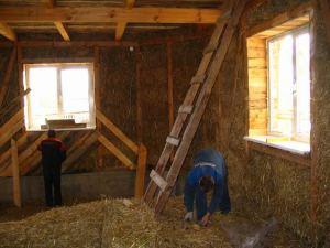 Строим дом из соломенных блоков