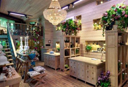 Торговый зал цветочного магазина