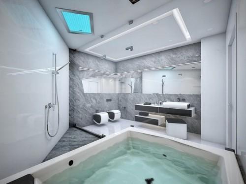 Ванна с душем и джакузи
