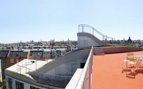 Эксплуатируемая крыша с площадкой