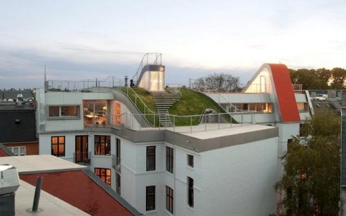 Детская площадка на эксплуатируемой крыше