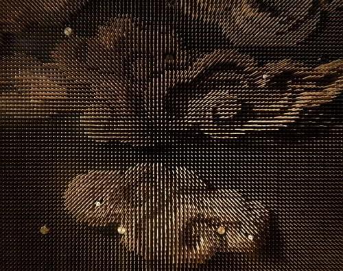 Фигуры на деревянном потолке