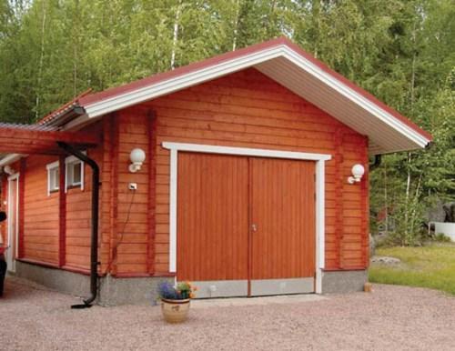 Отдельно стоящий деревянный гараж