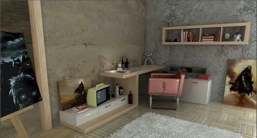 Рабочее место в детской комнате будущего художника
