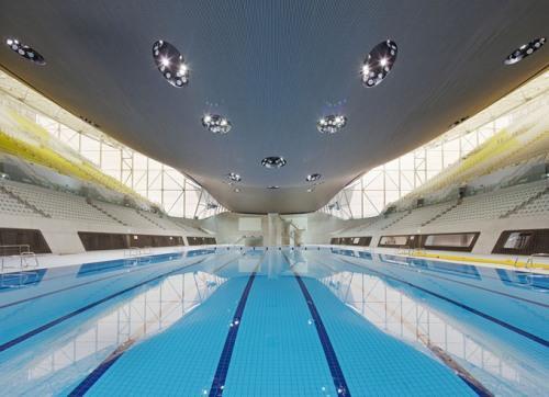 Аквацентр в Лондоне, работа Zaha Hadid