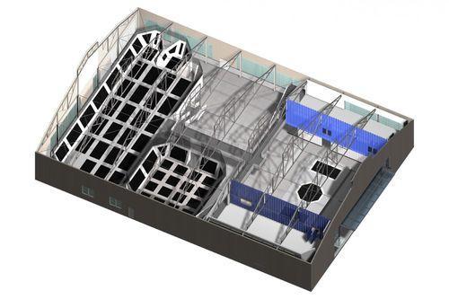 Схема батутного комплекса