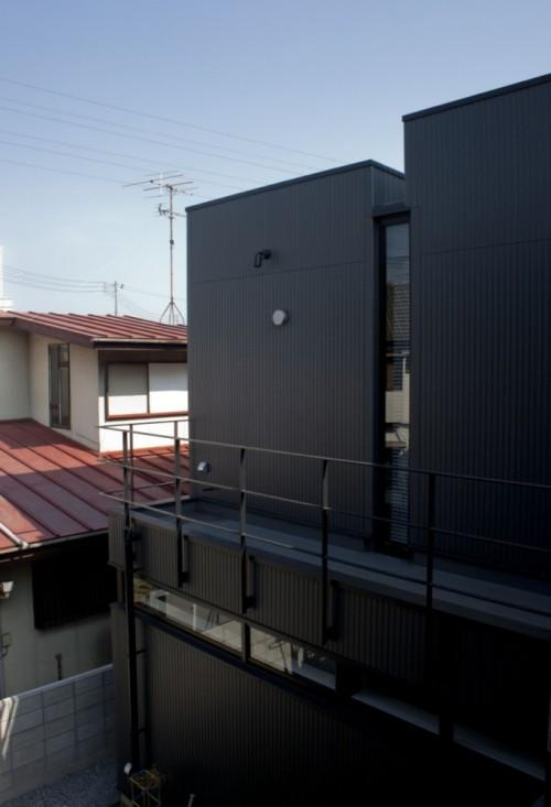Дом Black Slit в Окаяма-Сити. Второй этаж