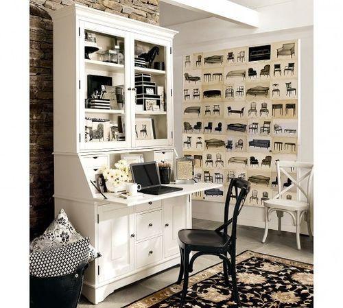Домашний офис в белом цвете