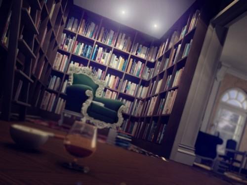 Интерьер классической библиотеки