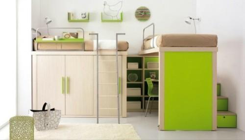 Интерьер детской спальни в нейтральных тонах