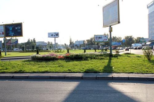 Клумба возле Бориспольской