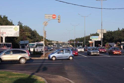 Въезд в Киев со стороны Борисполя