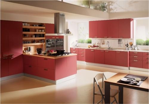 Больная красная кухня