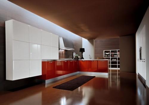 Красная кухня. Только нижняя часть