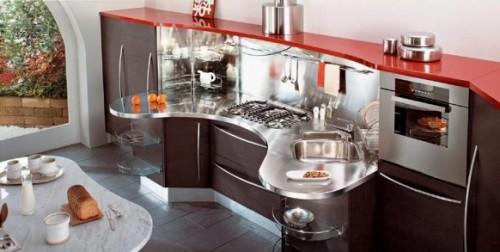 Красная кухня. Столешница
