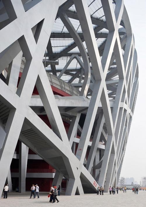 Национальный стадион в Пекине. Стальные конструкции