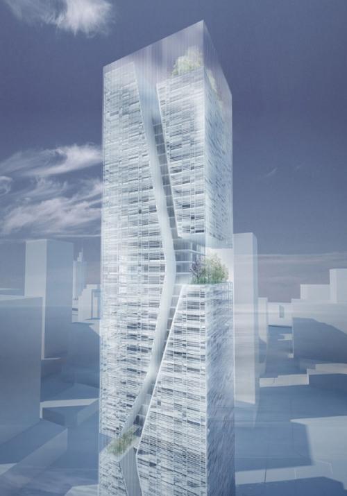 Небоскреб Guosen Secuirities в Шэньчжэнь. Проект небоскреба