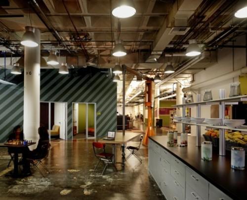 Новый дизайн офис Facebook. Место для отдыха