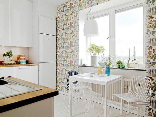 Кухня в скандинавской квартире