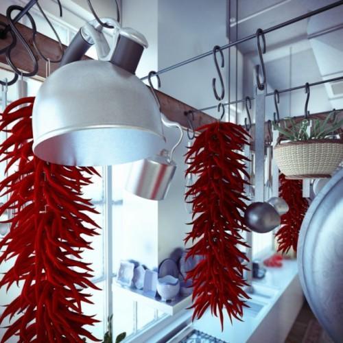 Промышленный лофт. Крюки для кухонной посуды