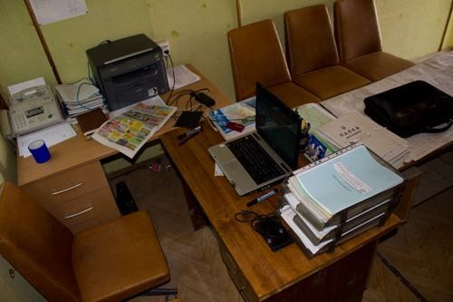 Прорабская с офисной техникой
