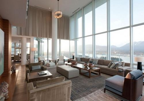 Шикарная двухъярусная квартира в Ванкувере