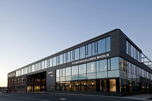 Школа F21 в Осло. Фасад здания