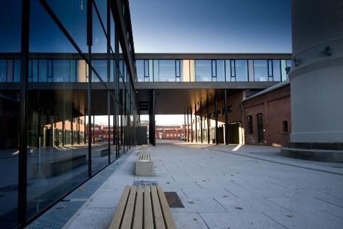 Школа F21 в Осло. Школьный двор