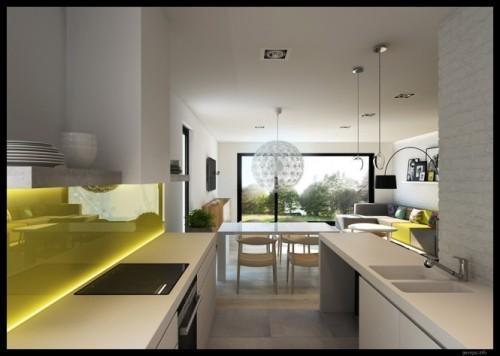 Стильный и современный интерьер кухни изнутри