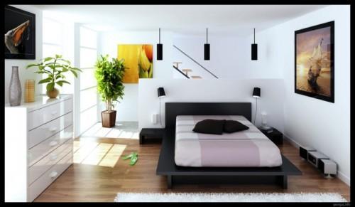 Стильный и современный интерьер спальни